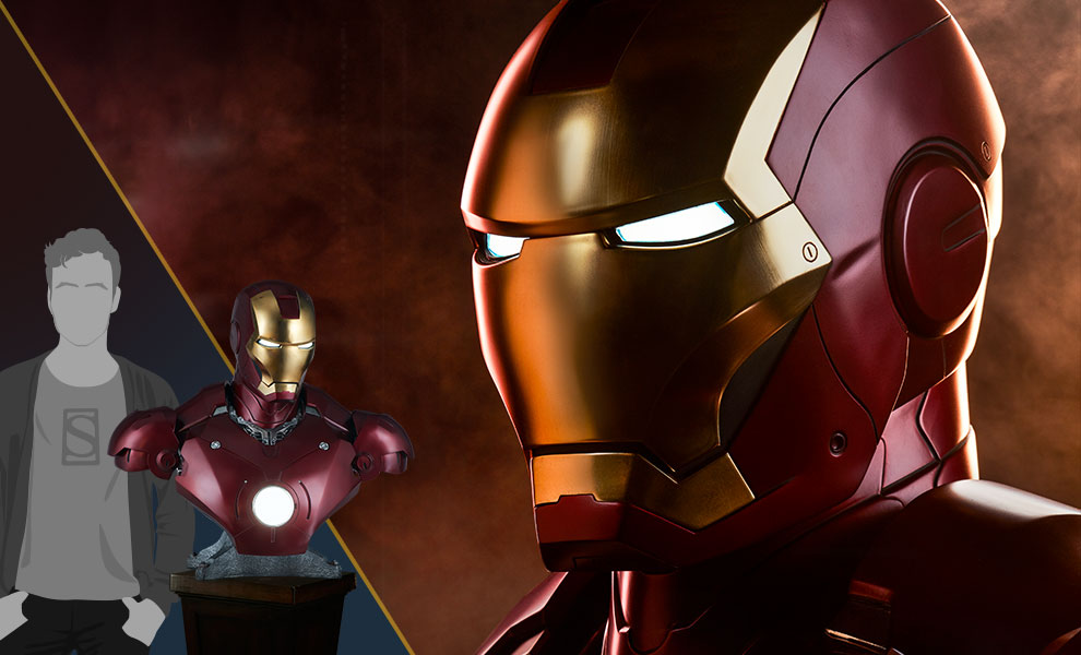 Gallery Feature Image of Iron Man Mark III Life-Size Bust - Click to open image gallery