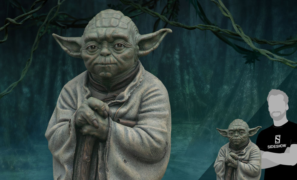 Gallery Feature Image of Yoda Bronze Bronze Statue - Click to open image gallery
