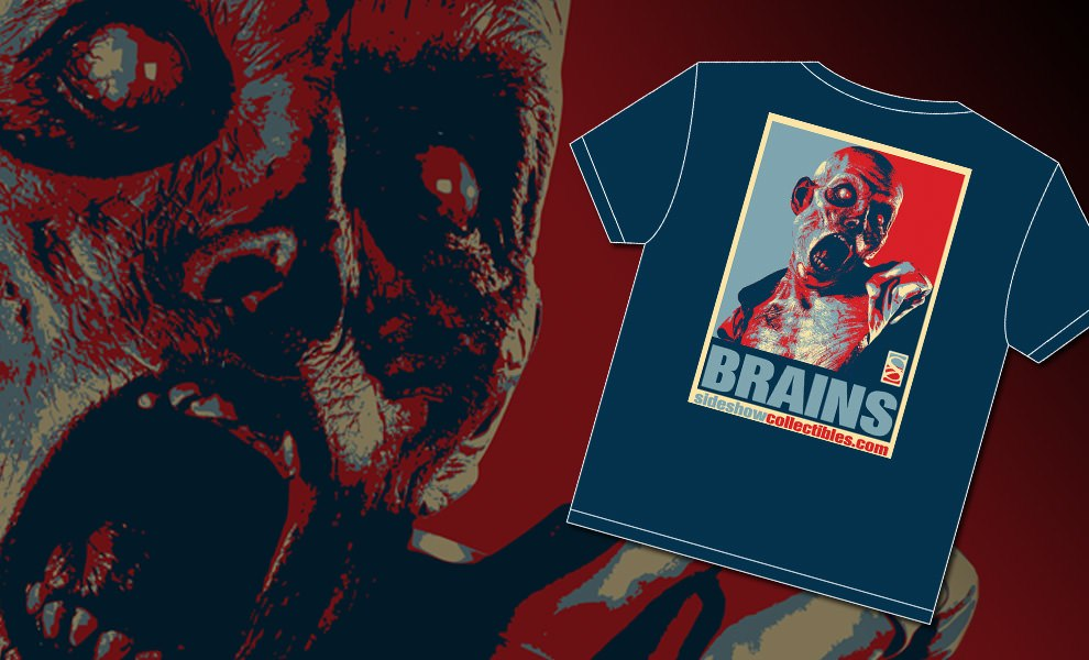 Gallery Feature Image of Brains Patient Zero T-Shirt Apparel - Click to open image gallery
