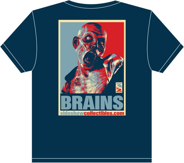 Sideshow Collectibles Brains Patient Zero T-Shirt Apparel