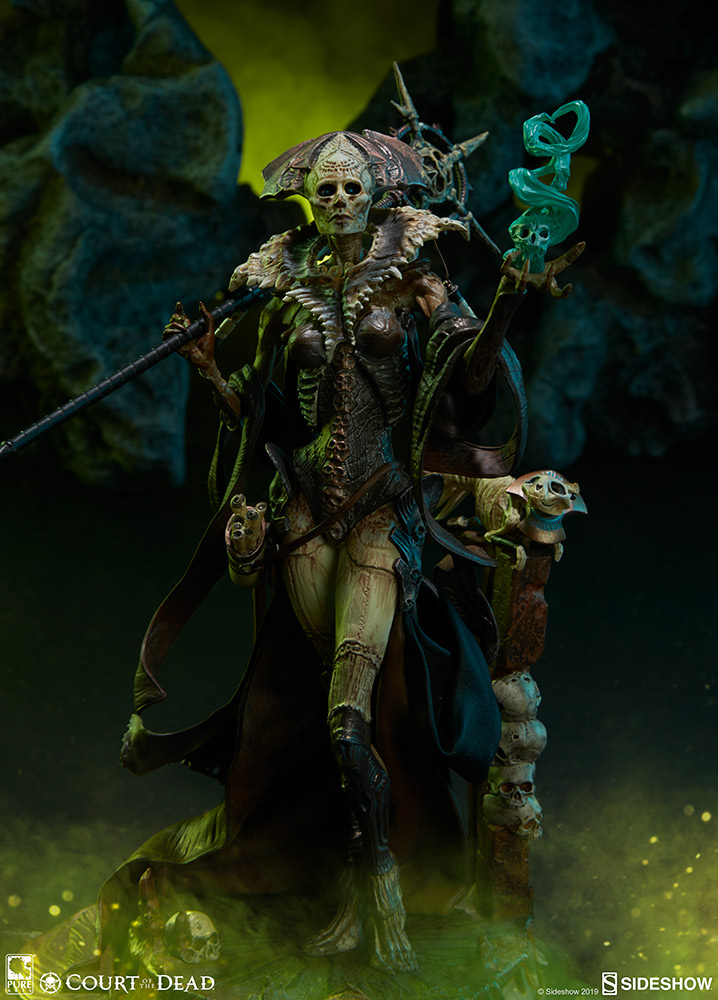 """Osteomancer's Vision Court of the Dead 13/"""" Figure SIDESHOW 500065 Xiall"""