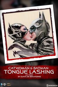 Gallery Image of Batman Catwoman Tongue Lashing Art Print