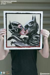 Gallery Image of Batman Catwoman Tongue Lashing Art Print