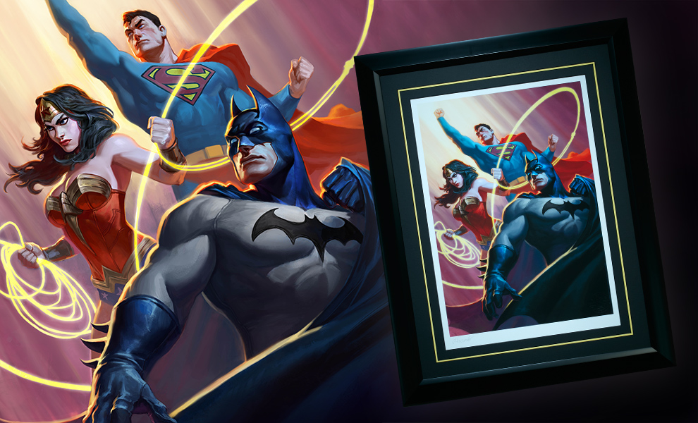 Gallery Feature Image of Justice League Trinity Art Print - Click to open image gallery