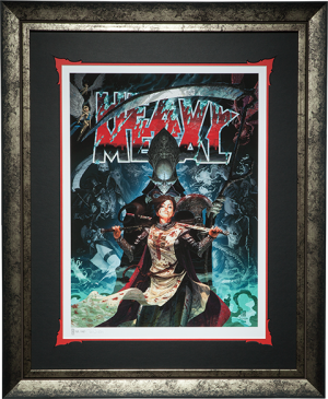 Heavy Metal A Mortal Rising Art Print