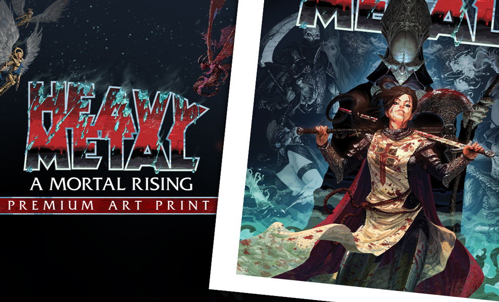 Gallery Feature Image of Heavy Metal A Mortal Rising Art Print - Click to open image gallery