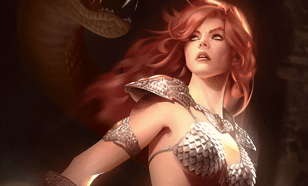 Gallery Feature Image of Red Sonja She-Devil with a Sword Art Print - Click to open image gallery
