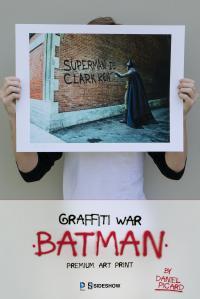 Gallery Image of Graffiti War Batman Art Print