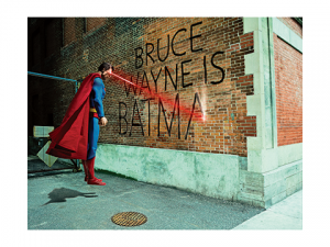 Graffiti War Superman Art Print
