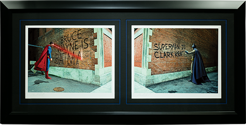 Sideshow Collectibles Graffiti War Batman vs Superman Art Print