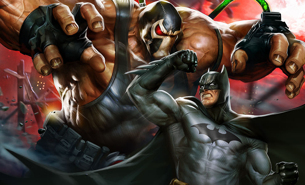 Gallery Feature Image of Batman vs Bane Art Print - Click to open image gallery