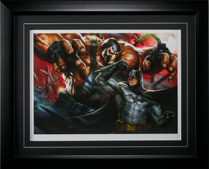 Batman vs Bane Art Print