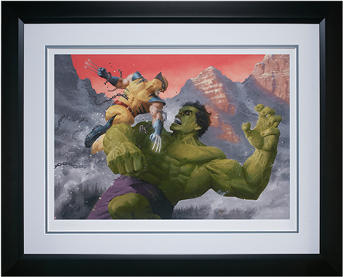 Sideshow Collectibles Hulk and Wolverine First Appearance Variant Art Print