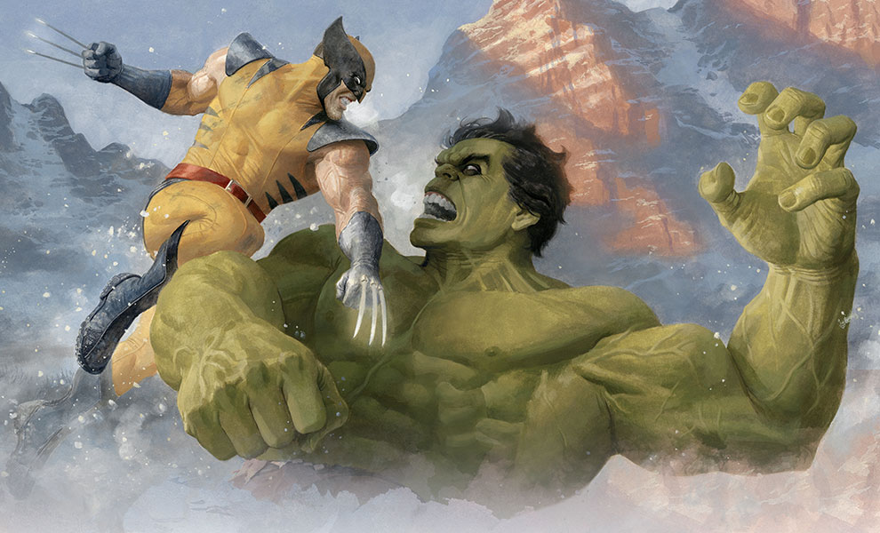 Gallery Feature Image of Hulk vs Wolverine Art Print - Click to open image gallery