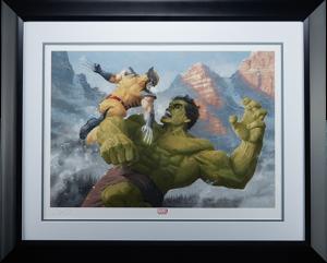 Hulk vs Wolverine Art Print