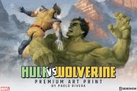 Gallery Image of Hulk and Wolverine First Appearance Variant Art Print
