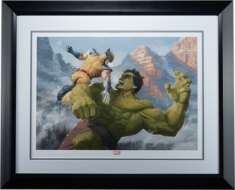 Sideshow Collectibles Hulk vs Wolverine Art Print