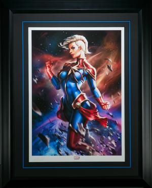 Captain Marvel Art Print