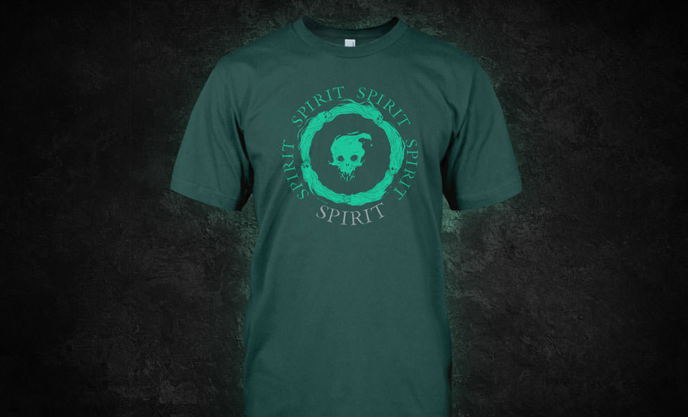 Gallery Feature Image of Spirit Logo T-Shirt Apparel - Click to open image gallery