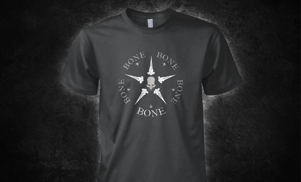 Gallery Feature Image of Bone Logo T-Shirt Apparel - Click to open image gallery
