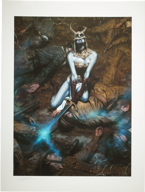 Sideshow Collectibles Kier: Call of the Forsaken Valkyrie Art Print
