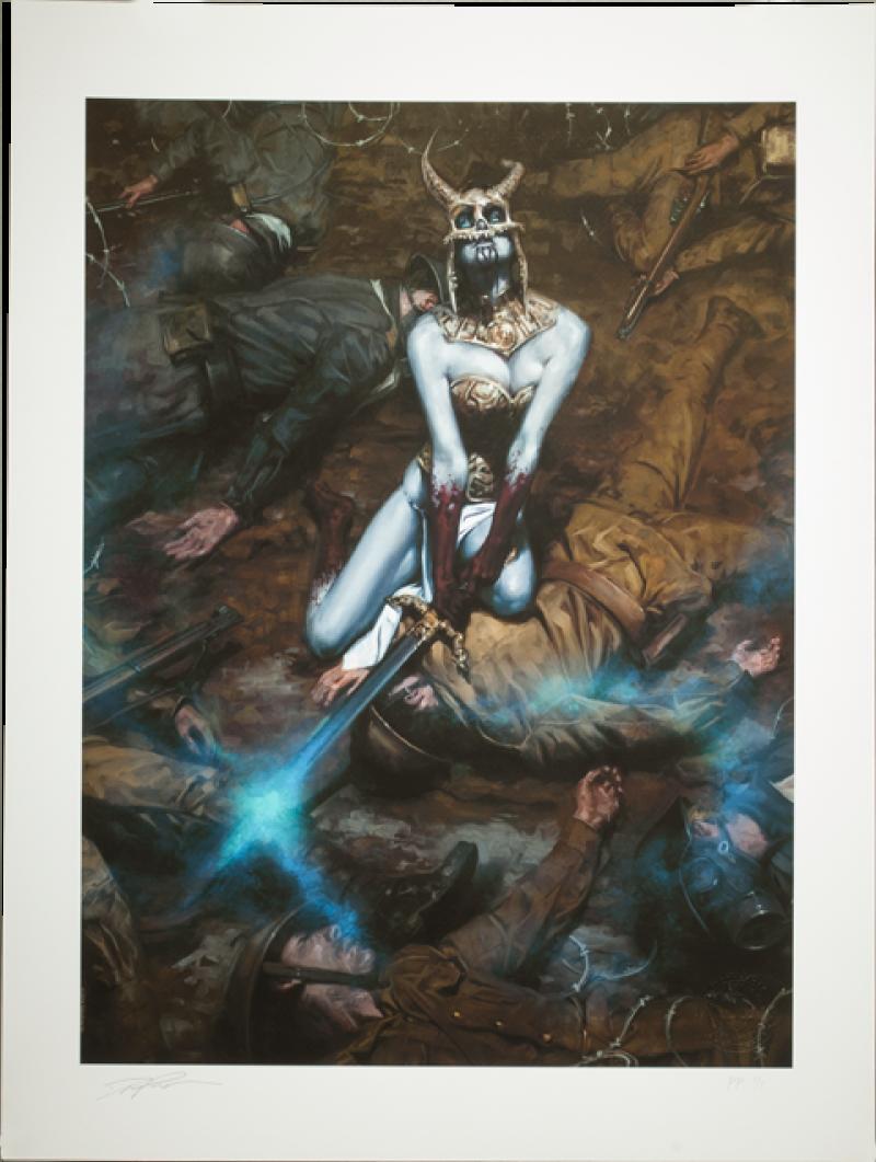 Kier: Call of the Forsaken Valkyrie Art Print - Court of the Dead