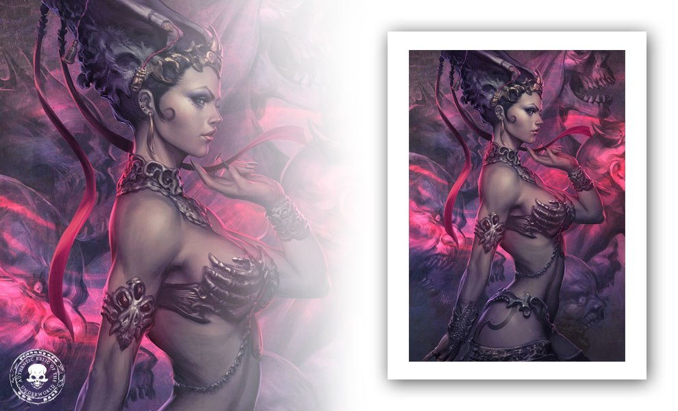 Gallery Feature Image of Gethsemoni, The Queen of the Dead Art Print - Click to open image gallery