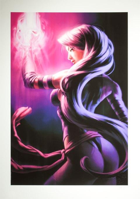Sideshow Collectibles Psylocke Art Print