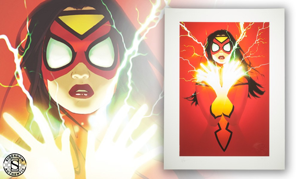 Gallery Feature Image of Spider-Woman Art Print - Click to open image gallery