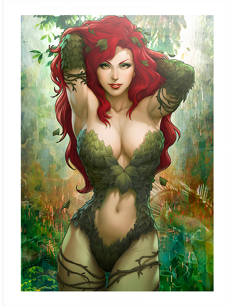Sideshow Collectibles Gotham Sirens Poison Ivy Variant Art Print