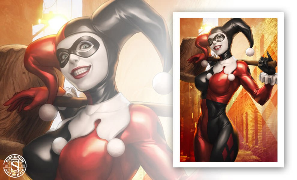 Gallery Feature Image of Gotham Sirens: Harley Quinn Art Print - Click to open image gallery