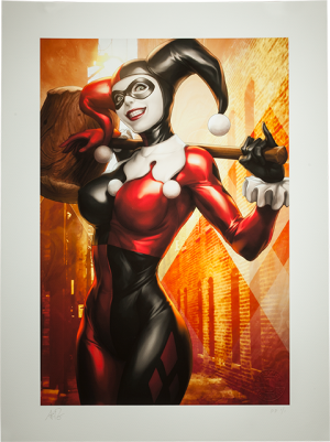 Gotham Sirens: Harley Quinn Art Print