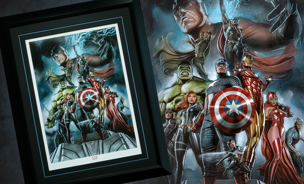Gallery Feature Image of The Avengers Earths Mightiest Heroes Art Print - Click to open image gallery