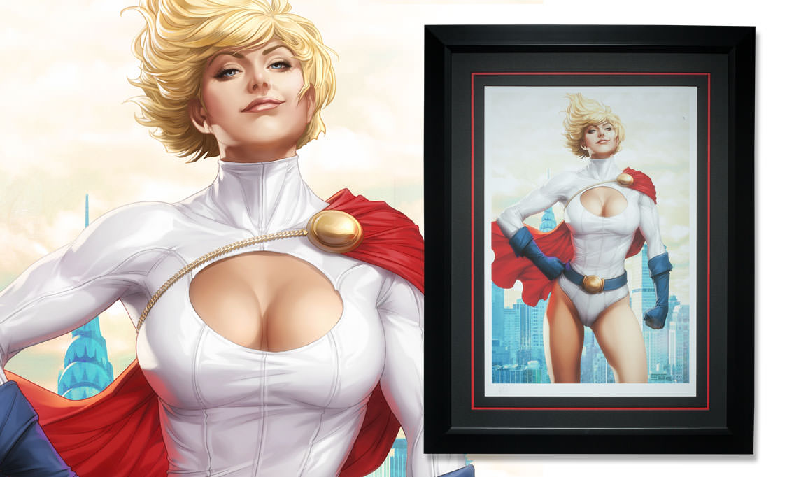 Gallery Feature Image of Power Girl Art Print - Click to open image gallery