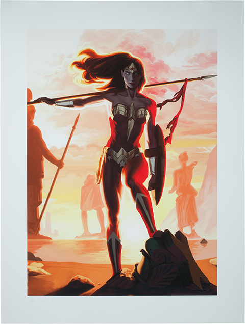 Sideshow Collectibles Wonder Woman - Justice League Trinity Art Print
