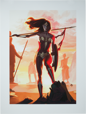 Wonder Woman - Justice League Trinity Art Print