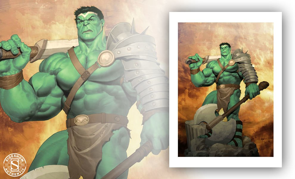 Gallery Feature Image of King Hulk Art Print - Click to open image gallery