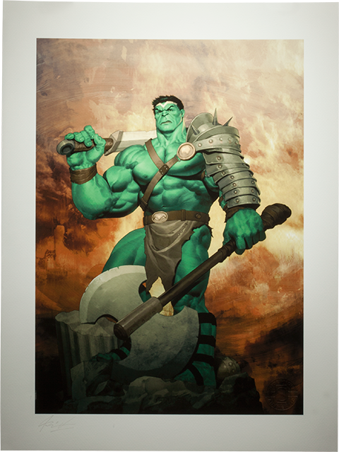 Sideshow Collectibles King Hulk Art Print