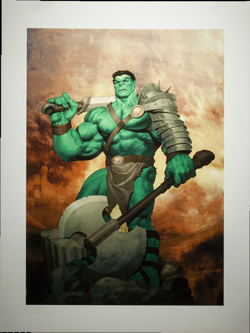 King Hulk Art Print -