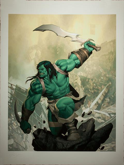 Sideshow Collectibles Skaar Son of Hulk Art Print