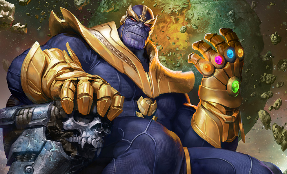 Gallery Feature Image of Thanos on Throne Variant Art Print - Click to open image gallery