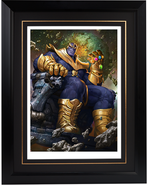 Sideshow Collectibles Thanos on Throne Variant Art Print