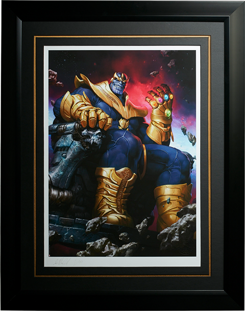 Sideshow Collectibles Thanos on Throne Art Print