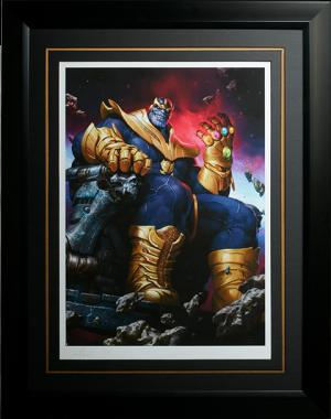 Thanos on Throne Art Print