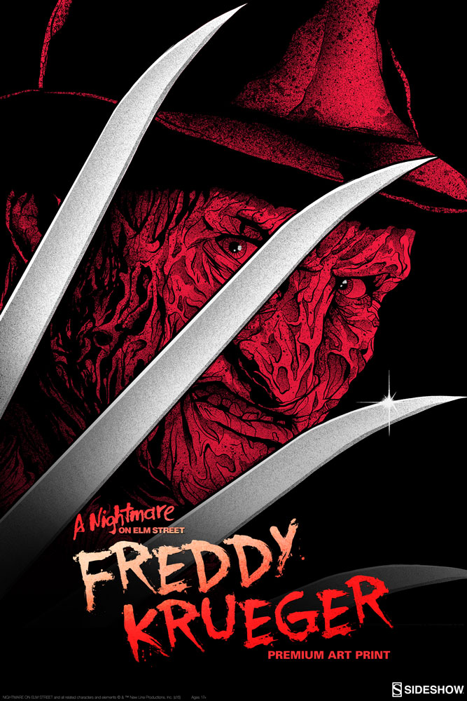 A Nightmare On Elm Street Freddy Krueger Premium Art Print