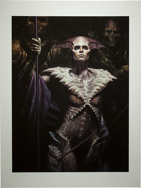 Sideshow Collectibles Xiall: Vanguard of Bone Art Print