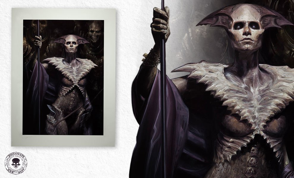 Gallery Feature Image of Xiall: Vanguard of Bone Art Print - Click to open image gallery