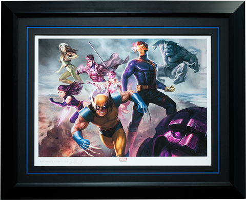 Sideshow Collectibles X-Men Blue Team Art Print