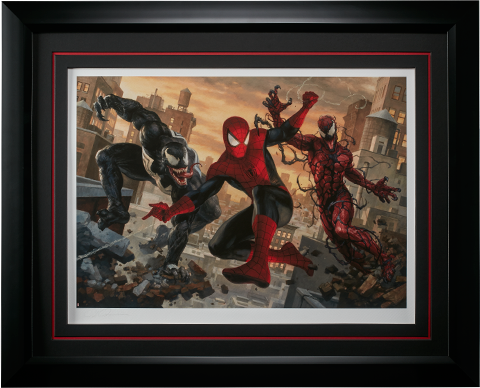 Sideshow Collectibles Spider-Man vs Venom and Carnage Art Print