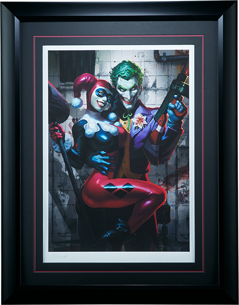 Sideshow Collectibles The Joker Harley Quinn Art Print